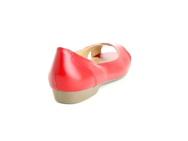 Liah Leather Peep-Toe Flats by Comfortview®  - image 3 from the video
