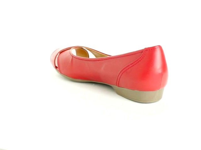 Liah Leather Peep-Toe Flats by Comfortview®  - image 5 from the video