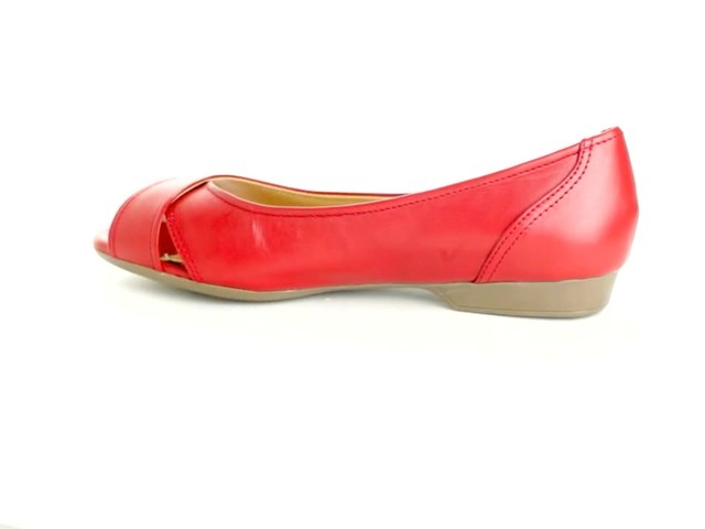 Liah Leather Peep-Toe Flats by Comfortview®  - image 6 from the video