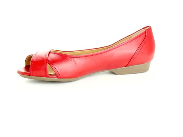 Liah Leather Peep-Toe Flats by Comfortview®  - image 7 from the video