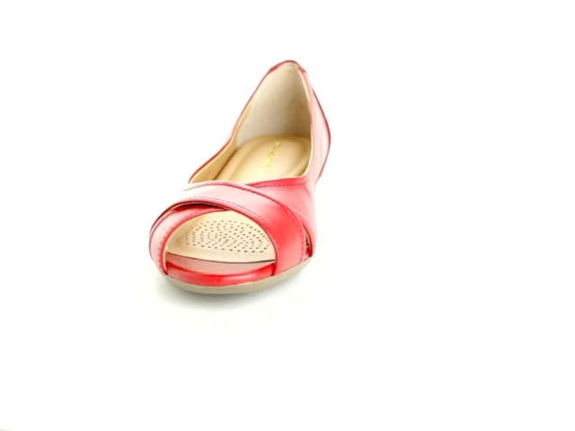 Liah Leather Peep-Toe Flats by Comfortview®  - image 9 from the video
