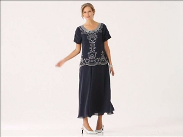 Beaded Fit and Flare Dress - image 2 from the video