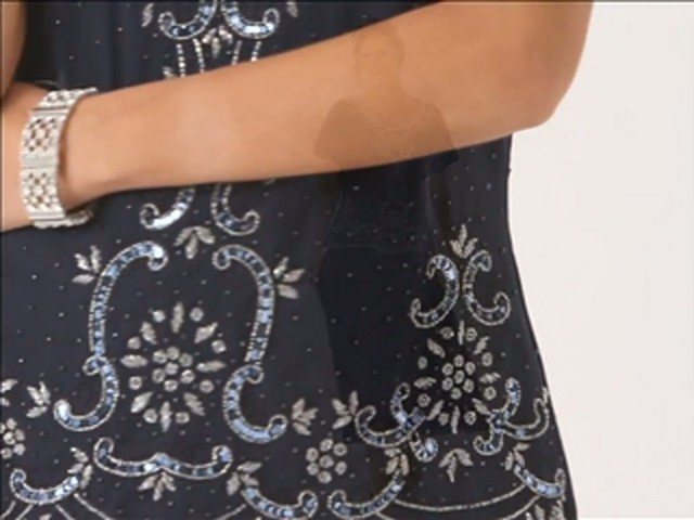 Beaded Fit and Flare Dress - image 4 from the video