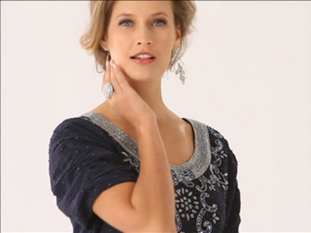 Beaded Fit and Flare Dress - image 8 from the video
