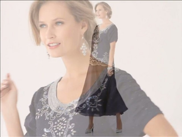 Beaded Fit and Flare Dress - image 9 from the video