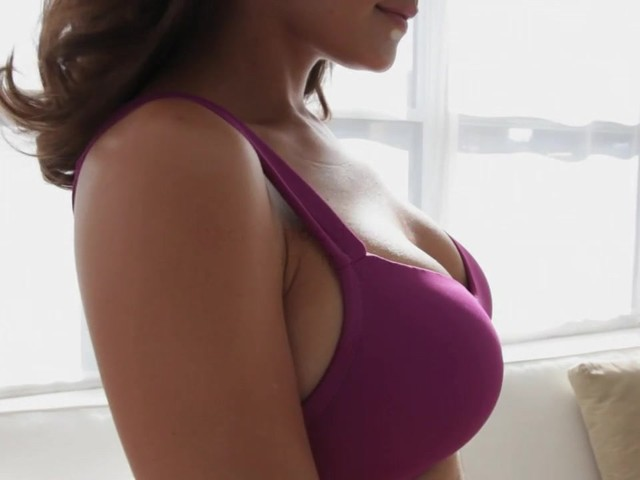 Wirefree back smoothing bra by Comfort Choice® - image 2 from the video