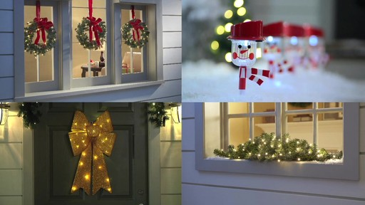BrylaneHome Cordless Outdoor Holiday Lighting   Image 3 From The Video