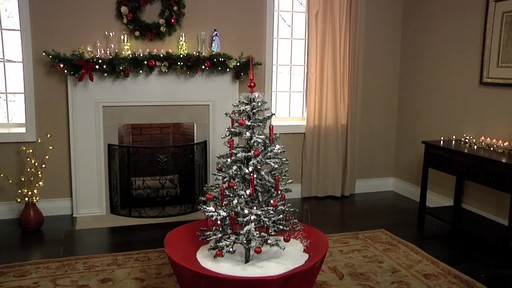 snowing holiday tabletop christmas tree with music image 2 from the video - Table Top Christmas Trees