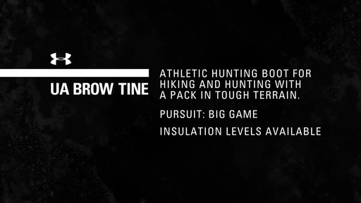 UA Brow Tine Hunting Boot - image 1 from the video