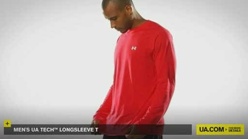 Men's UA Tech™ Longsleeve T - image 9 from the video