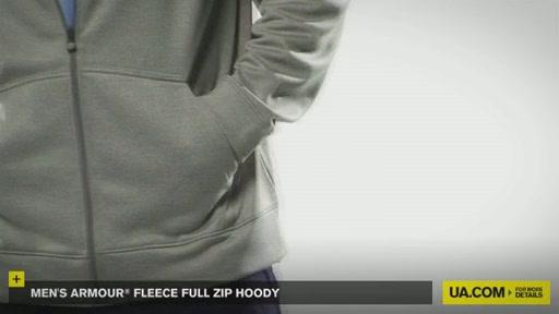 Men's Armour® Fleece Full Zip Hoody - image 8 from the video