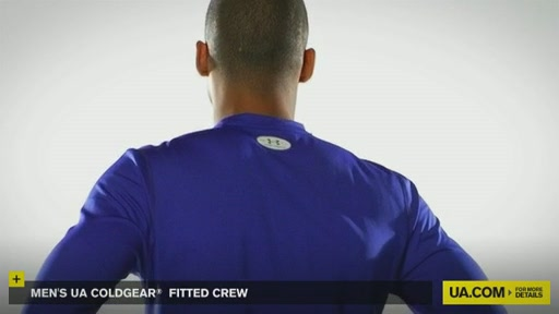 Men's UA ColdGear® Fitted Crew - image 2 from the video