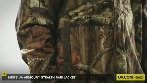 Men's UA Armour™ Stealth Rain Jacket  - image 2 from the video