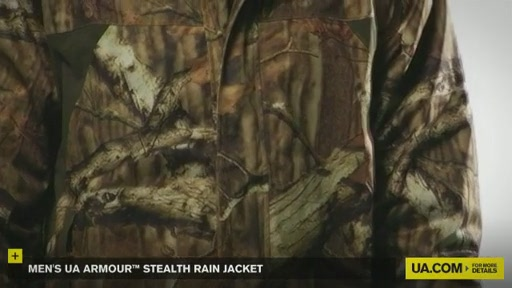 Men's UA Armour™ Stealth Rain Jacket  - image 3 from the video