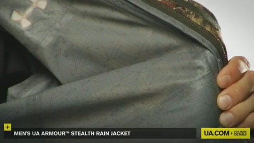 Men's UA Armour™ Stealth Rain Jacket  - image 5 from the video