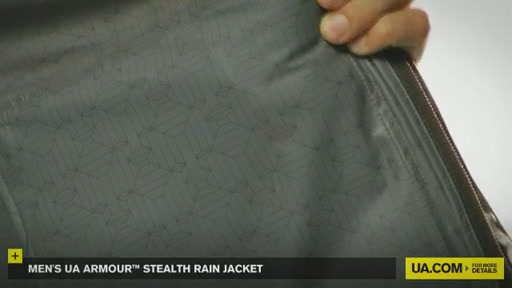 Men's UA Armour™ Stealth Rain Jacket  - image 6 from the video