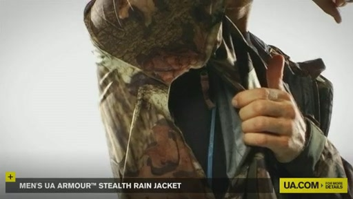 Men's UA Armour™ Stealth Rain Jacket  - image 8 from the video