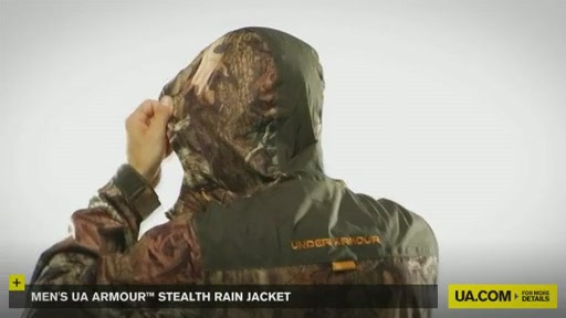 Men's UA Armour™ Stealth Rain Jacket  - image 9 from the video