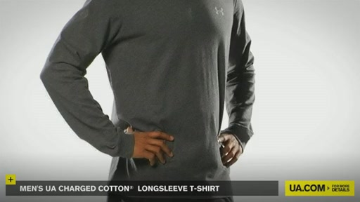 Men's UA Charged Cotton® Longsleeve T-Shirt - image 2 from the video
