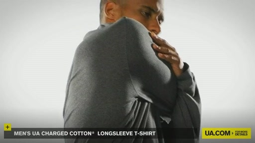 Men's UA Charged Cotton® Longsleeve T-Shirt - image 9 from the video