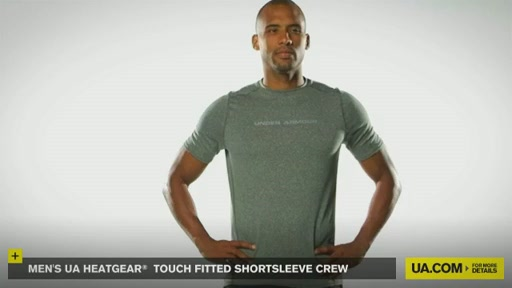 Men's UA HeatGear® Touch Fitted Shortsleeve Crew  - image 2 from the video