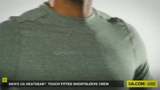Men's UA HeatGear® Touch Fitted Shortsleeve Crew  - image 4 from the video