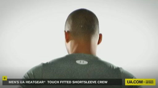 Men's UA HeatGear® Touch Fitted Shortsleeve Crew  - image 6 from the video