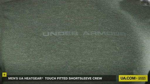 Men's UA HeatGear® Touch Fitted Shortsleeve Crew  - image 7 from the video