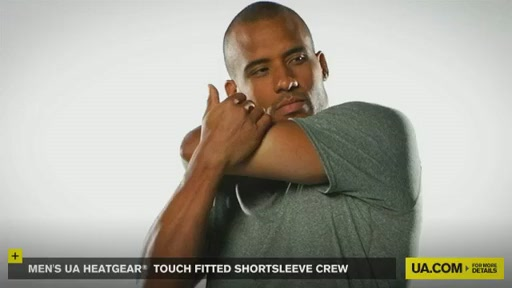 Men's UA HeatGear® Touch Fitted Shortsleeve Crew  - image 8 from the video