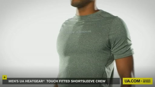 Men's UA HeatGear® Touch Fitted Shortsleeve Crew  - image 9 from the video