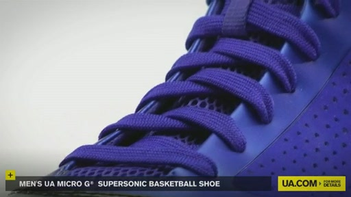Men's UA Micro G® Supersonic Basketball Shoe - image 3 from the video