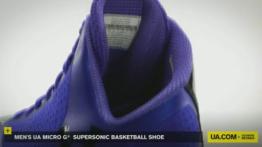 Men's UA Micro G® Supersonic Basketball Shoe - image 5 from the video