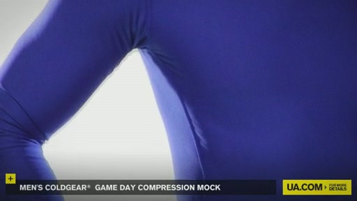 Men's ColdGear® Game Day Compression Mock - image 2 from the video
