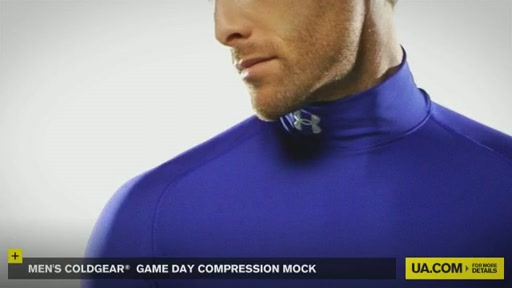 Men's ColdGear® Game Day Compression Mock - image 7 from the video