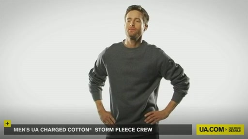 Men's UA Charged Cotton® Storm Fleece Crew - image 2 from the video