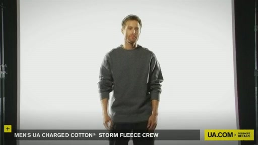 Men's UA Charged Cotton® Storm Fleece Crew - image 9 from the video