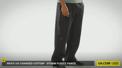 Men's UA Charged Cotton® Storm Fleece Pants - image 2 from the video
