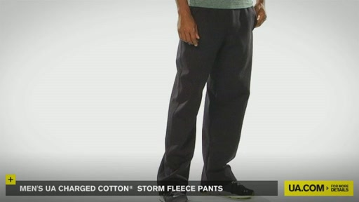 Men's UA Charged Cotton® Storm Fleece Pants - image 3 from the video