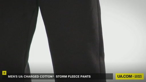 Men's UA Charged Cotton® Storm Fleece Pants - image 5 from the video