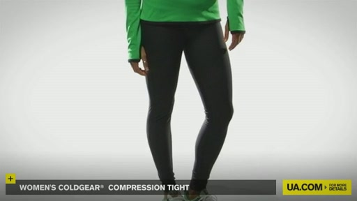 Women's ColdGear® Compression Tights - image 3 from the video