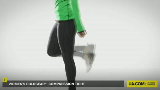 Women's ColdGear® Compression Tights - image 6 from the video