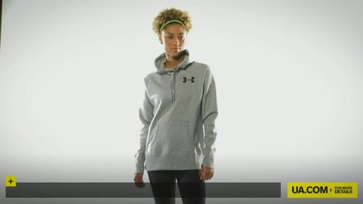 Women's UA Charged Cotton® Storm Fleece Hoody - image 1 from the video