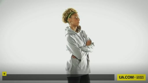 Women's UA Charged Cotton® Storm Fleece Hoody - image 10 from the video