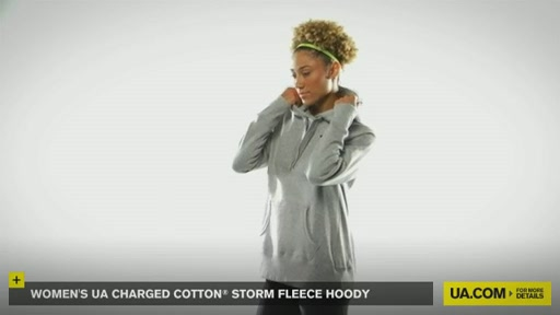 Women's UA Charged Cotton® Storm Fleece Hoody - image 2 from the video