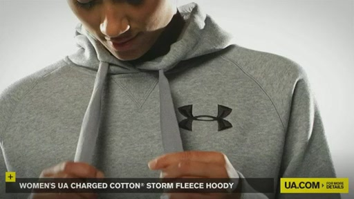 Women's UA Charged Cotton® Storm Fleece Hoody - image 5 from the video