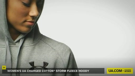 Women's UA Charged Cotton® Storm Fleece Hoody - image 7 from the video