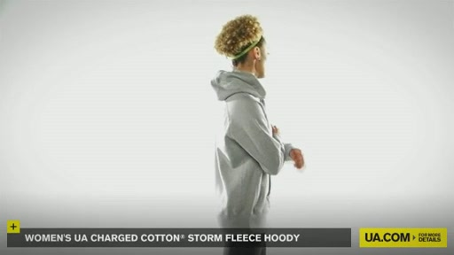 Women's UA Charged Cotton® Storm Fleece Hoody - image 9 from the video