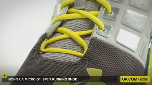 Men's UA Micro G® Split Running Shoes - image 4 from the video