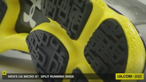 Men's UA Micro G® Split Running Shoes - image 5 from the video