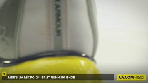 Men's UA Micro G® Split Running Shoes - image 9 from the video